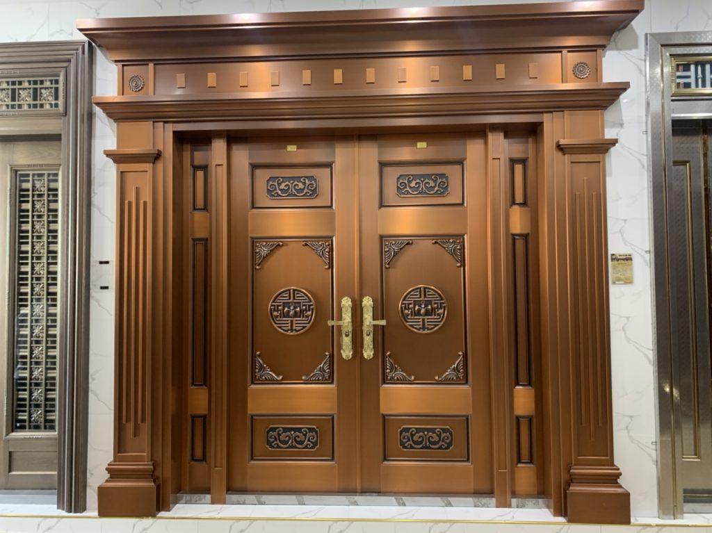 Báo giá lắp đặt cửa thép vân gỗ chống cháy