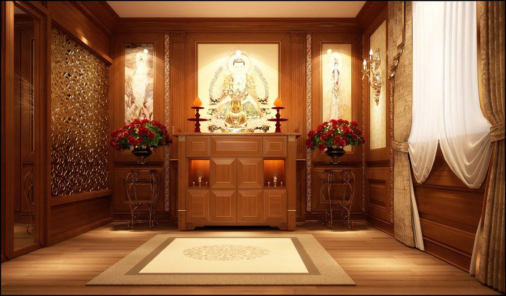 Xây kích thước cửa phòng thờ linh thiêng hợp phong thủy