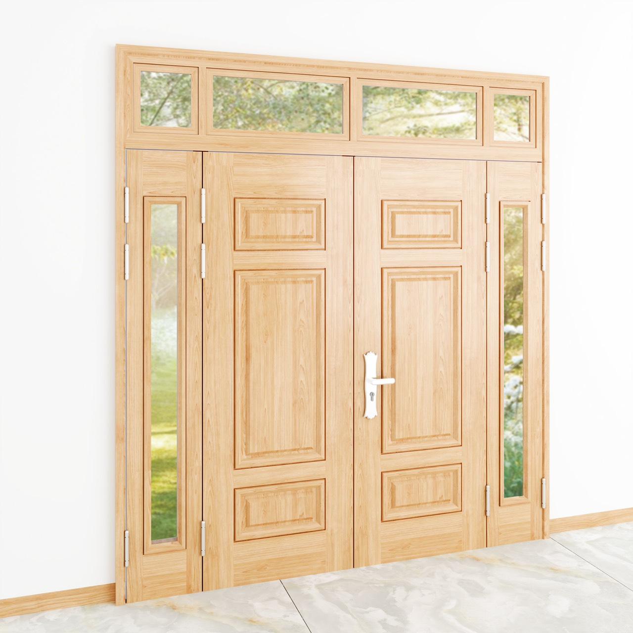 Kích thước cửa thép vân gỗ 4 cánh là bao nhiêu?