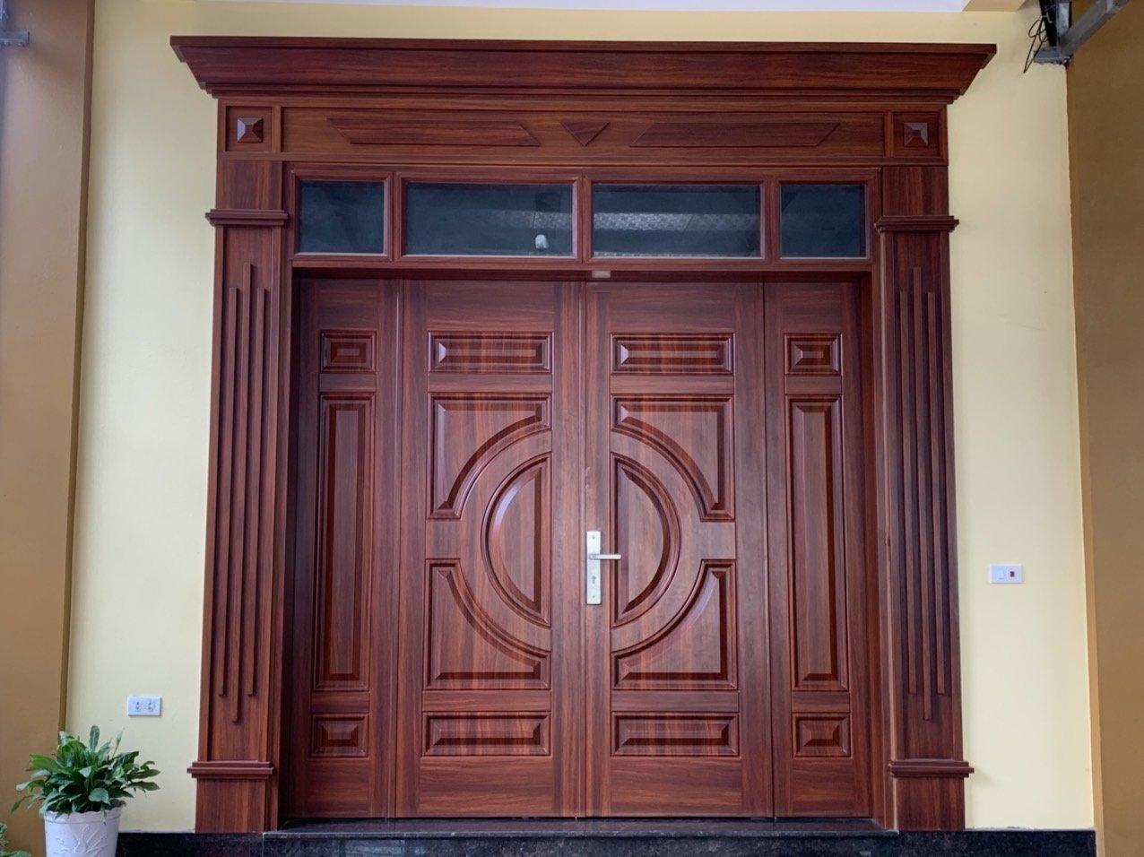 Hướng dẫn lắp ráp cửa thép vân gỗ