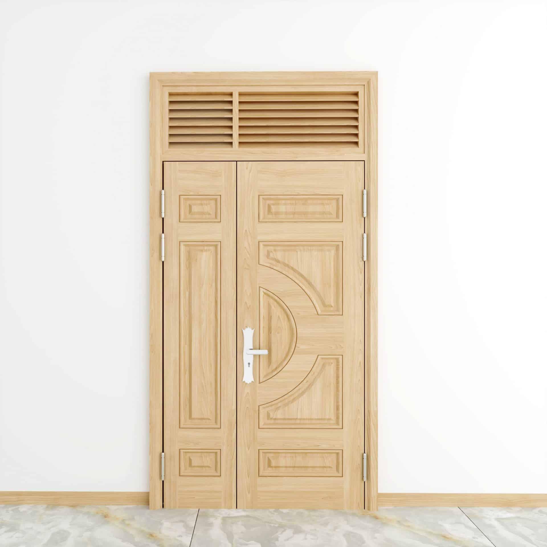 Ưu điểm khi lắp đặt cửa thép vân gỗ màu trắng