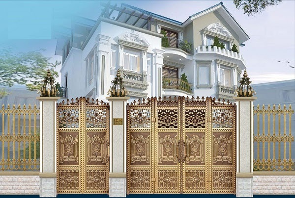 Những mẫu cổng nhôm đúc đẹp nhất tại TP.Hồ Chí Minh