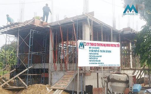 Nhà xây thô 3 tầng sau khi hoàn thiện phần móng và tầng 1 - Minh Phương Tiến