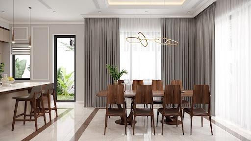 Tận dụng nguồn ánh sáng tự nhiên thiết kế nội thất phòng bếp trang nhã