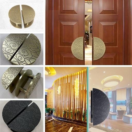 Tay nắm tròn lớn cho cửa chính cổng nhà biệt thự khách sạn 100012